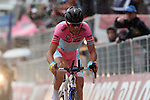 Italian's Vincenzo Nibali of Astana Pro Team competes the individual time trial of the eighteenth stage of 20.6km of the cycling road race 'Giro d'Italia' in Polsa, on May 23, 2013.  <br />