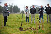 Carterton mayor John Booth. South Wairarapa Vet Services Clareville Vet Clinic Sod-Turning Ceremony at Carterton, New Zealand on Thursday, 4 August 2017. Photo: Dave Lintott / lintottphoto.co.nz