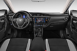 Stock photo of straight dashboard view of a 2015 Toyota Auris Dynamic 5 Door Hatchback Dashboard
