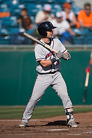 Lancaster JetHawks second baseman Max George (3) at bat during a California League game against the San Jose Giants at San Jose Municipal Stadium on May 12, 2018 in San Jose, California. Lancaster defeated San Jose 7-6. (Zachary Lucy/Four Seam Images)
