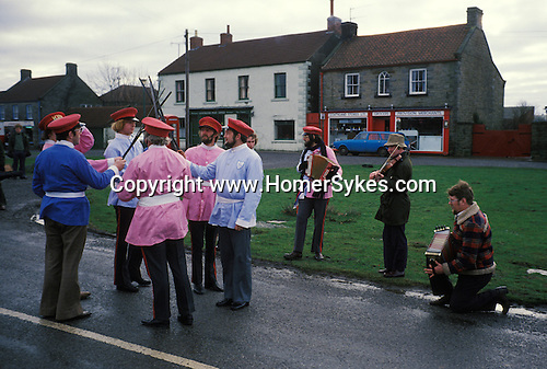 Goathland Plough Stots, Goathland Yorkshire UK Sword dance Play 1980s.