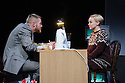 "London, UK. 09.11.2015. Belarus Free Theatre presents TIME OF WOMEN, written by Nicolai Khalezin and Natalia Kaliada, directed by Nicolai Khalezin, at the Young Vic. This is the world premiere of the production, as part of a two-week festival of performances entitled ""Staging a REvolution"", to celbrate the tenth anniversary of Belarus Free Theatre. Picture shows: Kiryl Kanstantsinau, Maryna Yurevich. Photograph © Jane Hobson."