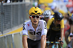 Michal Kwiatkowski (POL) Team Sky crosses the finish of Stage 3 of the 104th edition of the Tour de France 2017, running 212.5km from Verviers, Belgium to Longwy, France. 3rd July 2017.<br /> Picture: Eoin Clarke | Cyclefile<br /> <br /> All photos usage must carry mandatory copyright credit (&copy; Cyclefile | Eoin Clarke)