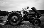 James Kerr, my grandfather, works on his tractor on his farm near Whiteford, Maryland, in the fall of 2007.