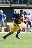 September 17, 2011:  California's Zach Maynard runs to find his receiver during a game against Presbyterian Football at AT&T Park, San Francisco, Ca    California Defeated Presbyterian 63 - 12