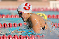 STANFORD, CA - FEBRUARY 13:  Megan Fischer-Colbrie of the Stanford Cardinal during Stanford's 167-131 win over California at the Avery Aquatic Center on February 13 , 2010 in Stanford, California.