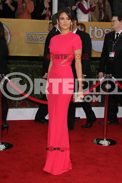 LOS ANGELES, CA - JANUARY 27: Nina Dobrev at The 19th Annual Screen Actors Guild Awards at the Los Angeles Shrine Exposition Center in Los Angeles, California. January 27, 2013. Credit: mpi27/MediaPunch Inc.
