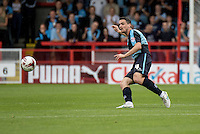 Stephen McGinn of Wycombe Wanderers during the Sky Bet League 2 match between Crawley Town and Wycombe Wanderers at Checkatrade.com Stadium, Crawley, England on 29 August 2015. Photo by Liam McAvoy.