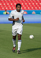 18 July 2012: Colorado Rapids defender Marvell Wynne #22 takes warm-up during an MLS game between the Colorado Rapids and Toronto FC at BMO Field in Toronto, Ontario..Toronto FC won 2-1..