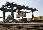 Rail freight terminal, Port of Felixstowe, Suffolk