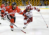 Steve Birnstill (NU - 44), Jon Pelle (Harvard - 11) - The Northeastern University Huskies defeated the Harvard University Crimson 3-1 in the Beanpot consolation game on Monday, February 12, 2007, at TD Banknorth Garden in Boston, Massachusetts.