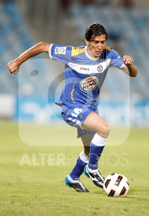Getafe's Pedro Rios during La liga match. September 23, 2010. (ALTERPHOTOS/Alvaro Hernandez).