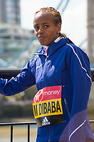 LONDON, ENGLAND 19 APRIL, Mare Dibaba attends Virgin Money London Marathon Elite Women's photocall at Westminster, London UK 19th April 2017<br /> CAP/PP/GM<br /> &copy;GM/PP/Capital Pictures