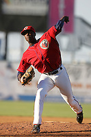 May 2, 2010: Edwin Walker of the Lancaster JetHawks during game against the Lake Elsinore Storm at Clear Channel Stadium in Lancaster,CA.  Photo by Larry Goren/Four Seam Images