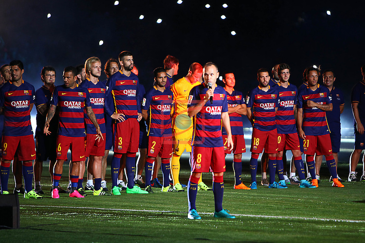 League BBVA 2015/2016.<br /> Presentation to FC Barcelona.<br /> Andres Iniesta.