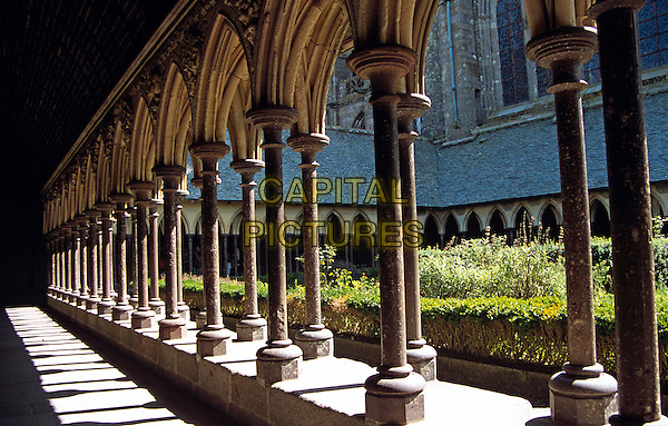 Cloisters, Le Mont Saint Michel, Normandy, France