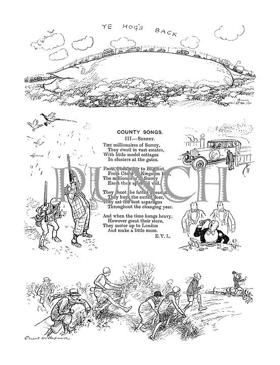County Songs. III. Surrey. (Illustrated poem)