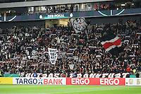 Frankfurter Ultras aus den gesperrten Blocks haben sich andere Plätze gesucht und protestieren gegen den DFB - 25.10.2016: Eintracht Frankfurt vs. FC Ingolstadt 04, 2. Hauptrunde DFB-Pokal, Commerzbank Arena
