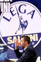 Matteo Salvini <br /> Rome May 22nd 2019. The Italian Minister of Internal Affairs appears as a guest on the tv show Porta a Porta<br /> Foto Samantha Zucchi Insidefoto