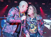 HELLOWEEN - Michael Kiske and Andi Deris - performing live on the Pumpkins United World Tour 2017/2018 at the Ruhrcongress in Bochum Germany - 24 Nov 2017.  Photo credit: Thorsten Seiffert/IconicPix