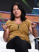 BEVERLY HILLS - JULY 23: Chef Monique Fiso onstage during the GORDON RAMSAY: UNCHARTED panel at the National Geographic portion of the Summer 2019 TCA Press Tour at the Beverly Hilton on July 23, 2019 in Los Angeles, California. (Photo by Frank Micelotta/National Geographic/PictureGroup)