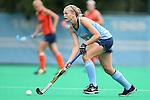 12 September 2014: North Carolina's Julia Young. The University of North Carolina Tar Heels hosted the Syracuse University Orange at Francis E. Henry Stadium in Chapel Hill, North Carolina in a 2014 NCAA Division I Field Hockey match. UNC won the game 3-0.