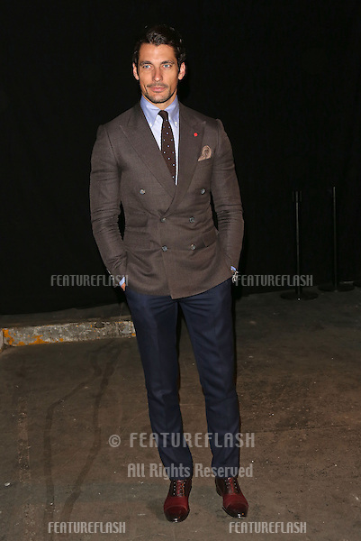 David Gandy at Oliver Spencer SS14 show held at the Old Sorting office, London.17/06/2013 Picture by: Henry Harris / Featureflash