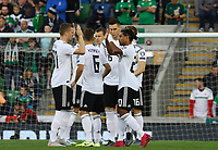 Deutsche Mannschaft schwört sich ein - 09.09.2019: Nordirland vs. Deutschland, Windsor Park Belfast, EM-Qualifikation DISCLAIMER: DFB regulations prohibit any use of photographs as image sequences and/or quasi-video.