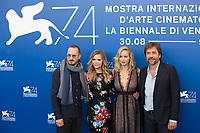 Darren Aronofsky, Michelle Pfeiffer, Jennifer Lawrence, Javier Bardem at the &quot;Mother!&quot; photocall, 74th Venice Film Festival in Italy on 5 September 2017.<br /> <br /> Photo: Kristina Afanasyeva/Featureflash/SilverHub<br /> 0208 004 5359<br /> sales@silverhubmedia.com