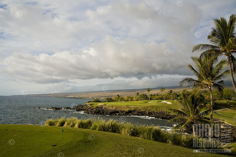 Mauna Kea Golf Course on the coast of the Big Island of Hawaii