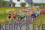 And their off- the runners take off at the start of the 20th annual Kilgobnet 4mile race on Friday evening