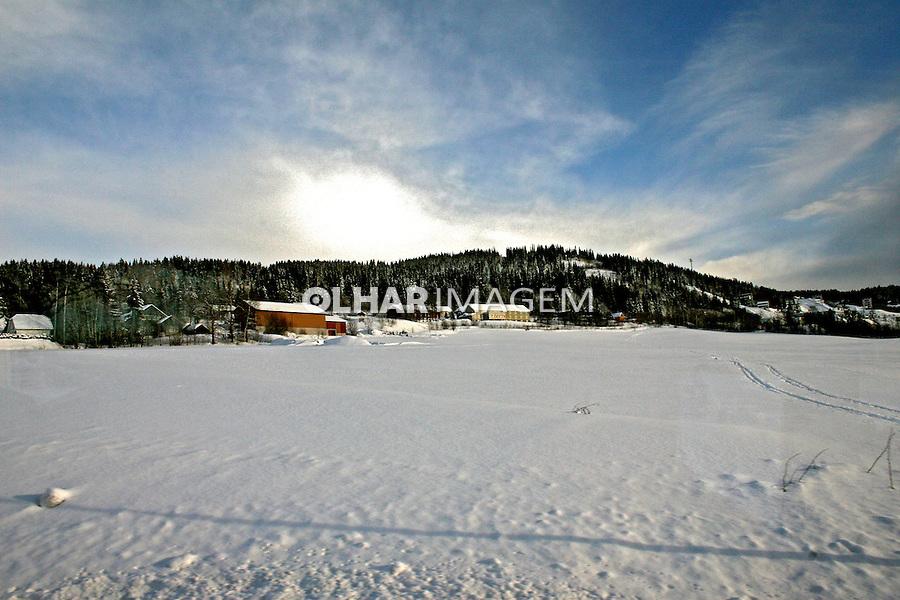 Neve em Lillehammer. Noruega. 2008. Foto de Marcio Nel Cimatti.