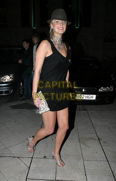 NUSH (BIG BROTHER).FHM 100 Sexiest Women Party, Guildhall, .London,.3rd June 2004..full length full-length little black dress silver shoes clutch bag trilby hat .www.capitalpictures.com.sales@capitalpictures.com.©Capital Pictures