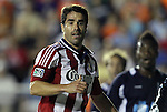 05 June 2012: Chivas USA's Juan Pablo Angel (COL). The Carolina RailHawks (NASL) lost 1-2 to Club Deportivo Chivas USA (MLS) at WakeMed Soccer Stadium in Cary, NC in a 2012 Lamar Hunt U.S. Open Cup fourth round game.