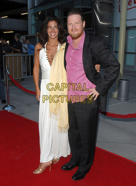 """DONAL LOGUE.""""The Groomsmen"""" World Premiere held at The Arclight Theatre in Hollywood, California, USA..July 12th, 2006.Ref: DVS.full length black suit white dress.www.capitalpictures.com.sales@capitalpictures.com.Supplied By Capital PIctures"""
