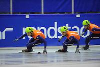 SCHAATSEN: IJSSTADION THIALF: 27-06-2013, Perspresentatie Shorttrack, ©foto Martin de Jong