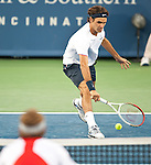Roger Federer (SUI) Defeats Mardy Fish (USA) 6-3 7-6(4)