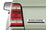 Tail light close up detail view of a 2009 Ford Escape Hybrid