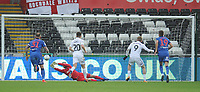 Bolton Wanderers' Remi Matthews saves from Swansea City's Oli McBurnie's penalty<br /> <br /> Photographer Kevin Barnes/CameraSport<br /> <br /> The EFL Sky Bet Championship - Swansea City v Bolton Wanderers - Saturday 2nd March 2019 - Liberty Stadium - Swansea<br /> <br /> World Copyright © 2019 CameraSport. All rights reserved. 43 Linden Ave. Countesthorpe. Leicester. England. LE8 5PG - Tel: +44 (0) 116 277 4147 - admin@camerasport.com - www.camerasport.com