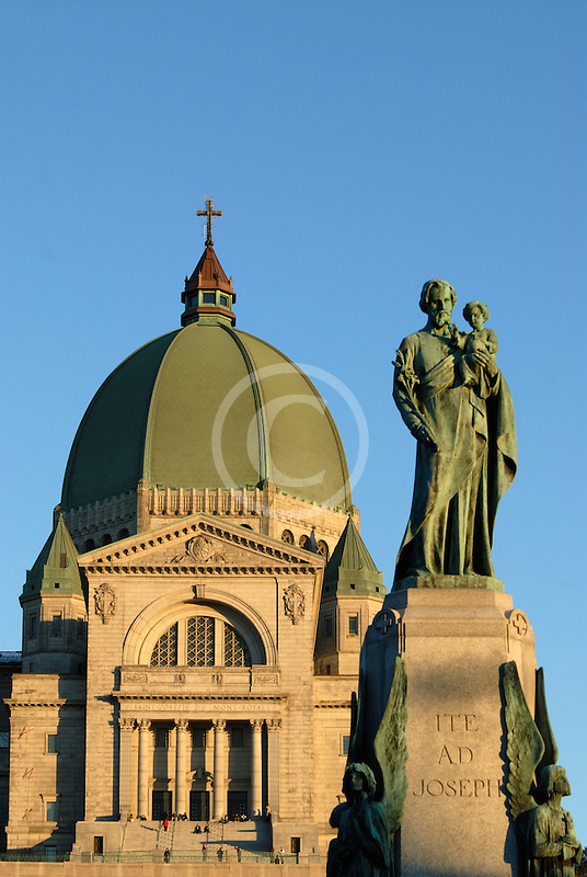 Canada, Montreal, Mount Royal, Saint Josephs Oratory, Statue of Joseph and Jesus