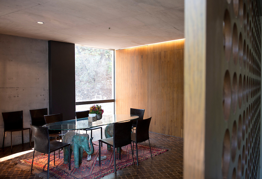 2nd dining area. Private house by architect Tatiana Bilbao in Monterrey, Nuevo Leon Mexico
