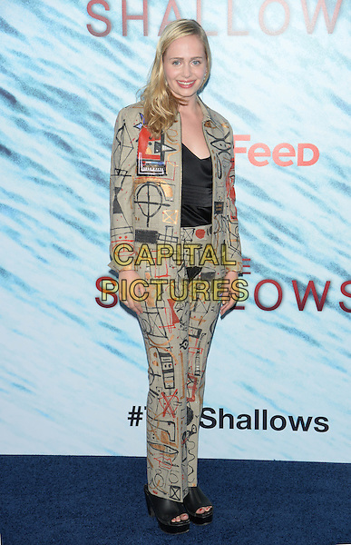 NEW YORK, NY - JUN 21: Tessa Albertson attends the World Premiere of &quot;The Shallows&quot; at the AMC Loews Lincoln Square Cinemas on June 21, 2016 in NEW YORK CITY.<br /> CAP/LNC/TOM<br /> &copy;TOM/LNC/Capital Pictures