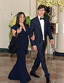 Beth Shaw, Personal Finance Commentator &amp; Member of the President&rsquo;s Advisory Council on Financial Capability for Young Americans, and Adam Shaw arrive for the State Dinner in honor of Prime Minister Trudeau and Mrs. Sophie Gr&eacute;goire Trudeau of Canada at the White House in Washington, DC on Thursday, March 10, 2016.<br /> Credit: Ron Sachs / Pool via CNP