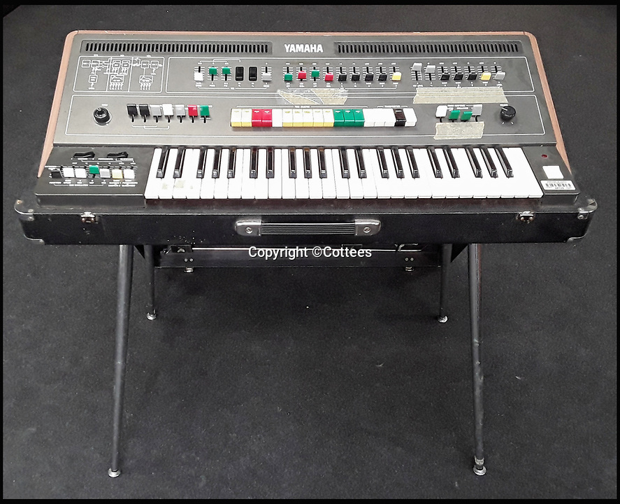 BNPS.co.uk (01202 558833)<br /> Pic: Cottees/BNPS<br /> <br /> The synthesiser used by eighties pop group Ultravox for their seminal hit Vienna has emerged for sale after being uncovered in the store room of a youth club.<br /> <br /> The Yamaha CS-50 analogue synthesiser was donated to the Limelights' club in Poole, Dorset, by frontman Midge Ure's brother, Bobby.<br /> <br /> It had been languishing in a cupboard for years before a youth worker recently found it.<br /> <br /> The electric instrument, which featured the 1981 track, is now tipped to sell for &pound;2,000.