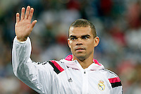 Pepe of Real Madrid during the Champions League group B soccer match between Real Madrid and FC Basel 1893 at Santiago Bernabeu Stadium in Madrid, Spain. September 16, 2014. (ALTERPHOTOS/Caro Marin) /NortePhoto.com