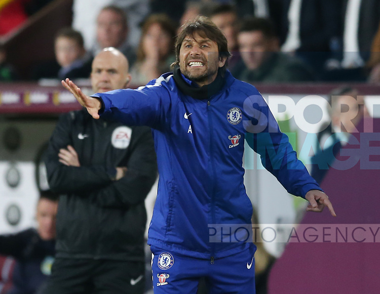 Antonio Conte manager of Chelsea during the premier league match at the Turf Moor Stadium, Burnley. Picture date 19th April 2018. Picture credit should read: Simon Bellis/Sportimage