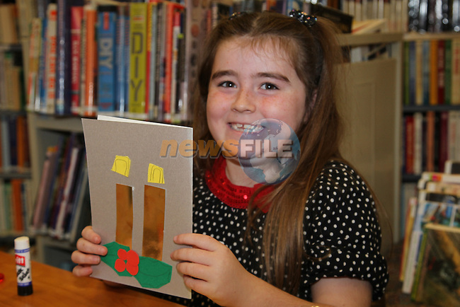 Hannah heeney.at the card making in the library..Picture: Fran Caffrey/www.newsfile.ie.