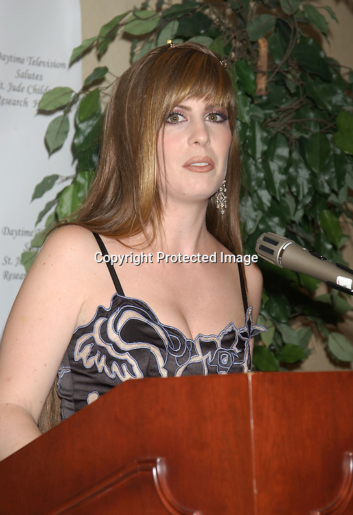 ..Martha Byrne..at the Ninth Annual Daytime Television salutes St. Jude Children's Research Hospital benefit in New York City on ..October 10, 2003  at the Marriott Marquis Hotel. ..Photo by Robin Platzer, Twin Images
