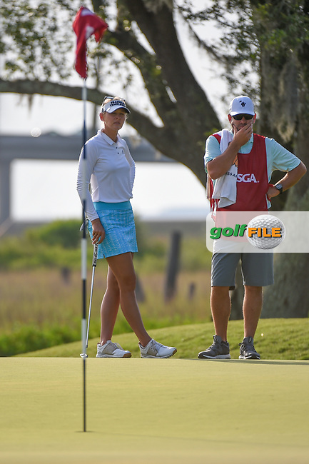 Jessica Korda (USA) waits to putt on 10 during round 2 of the 2019 US Women's Open, Charleston Country Club, Charleston, South Carolina,  USA. 5/31/2019.<br /> Picture: Golffile | Ken Murray<br /> <br /> All photo usage must carry mandatory copyright credit (© Golffile | Ken Murray)