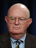 Judge Laurence H. Silberman, Co-Chairman of the Commission on the Intelligence Capabilities of the United States Regarding Weapons of Mass Destruction meets reporters at the White House in Washington, D.C. on March 31, 2005. Their report is highly critical of the intelligence gathering community in the United States.<br /> Credit: Ron Sachs / CNP